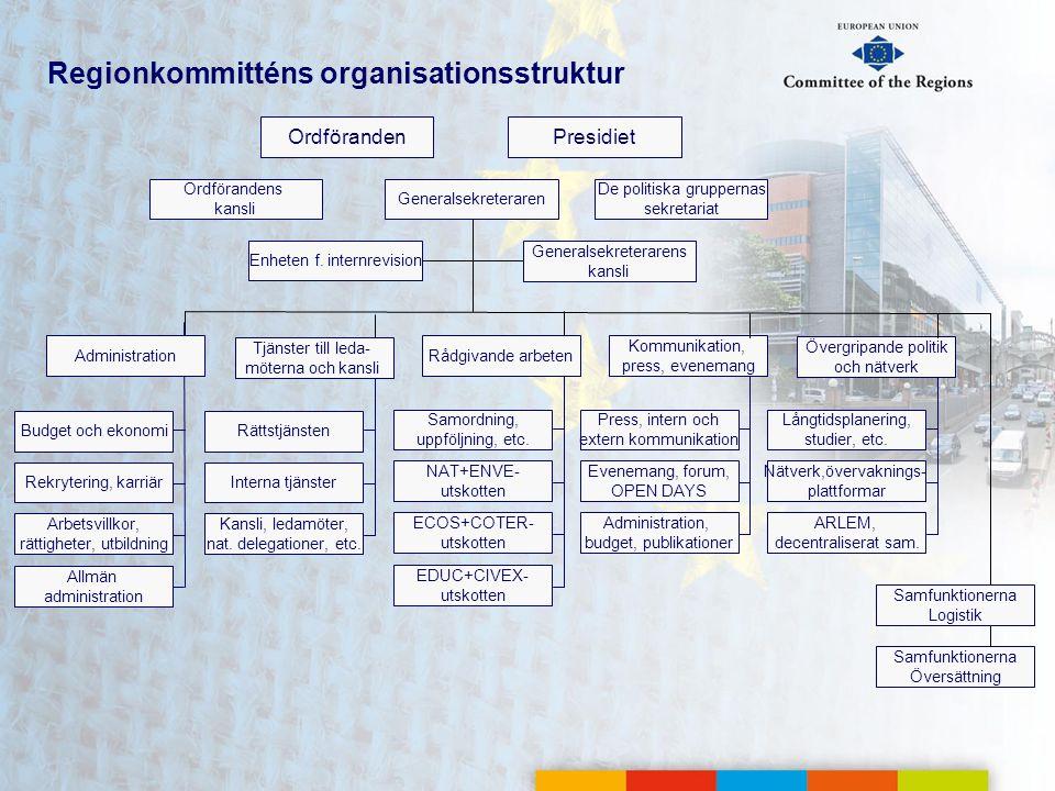 Regionkommitténs organisationsstruktur
