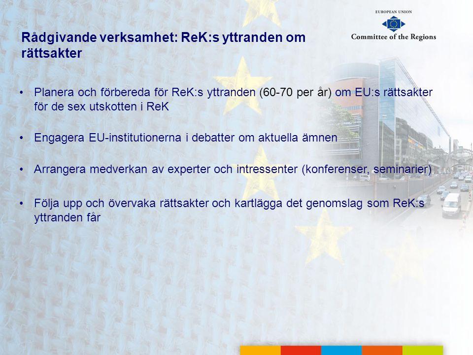 Rådgivande verksamhet: ReK:s yttranden om rättsakter