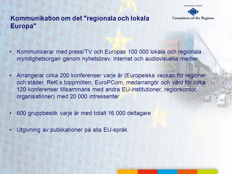 Kommunikation om det regionala och lokala Europa