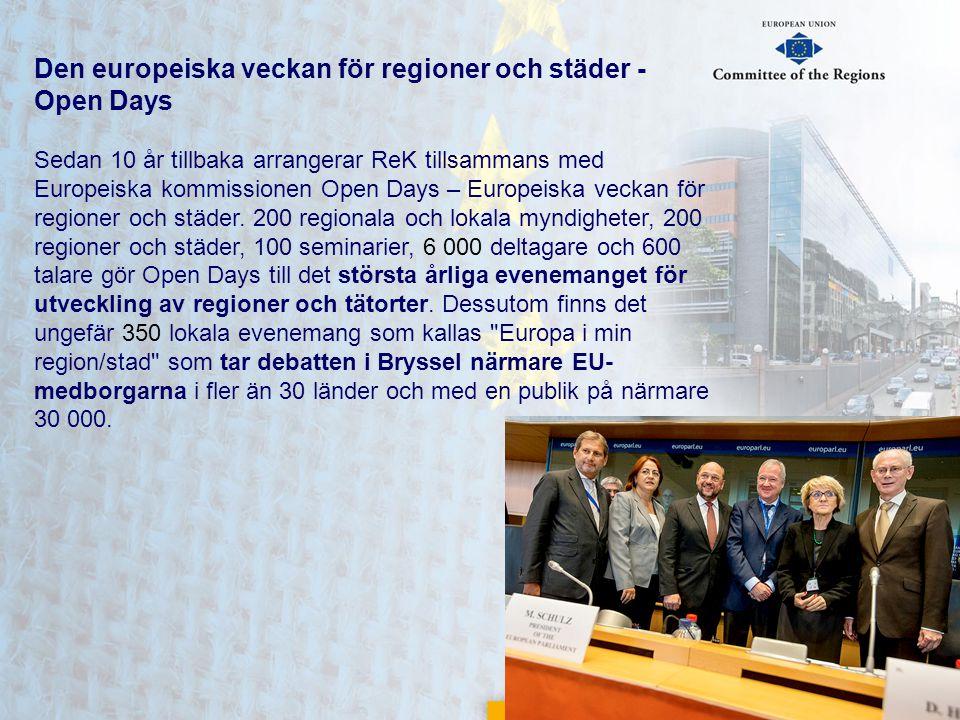 Den europeiska veckan för regioner och städer - Open Days