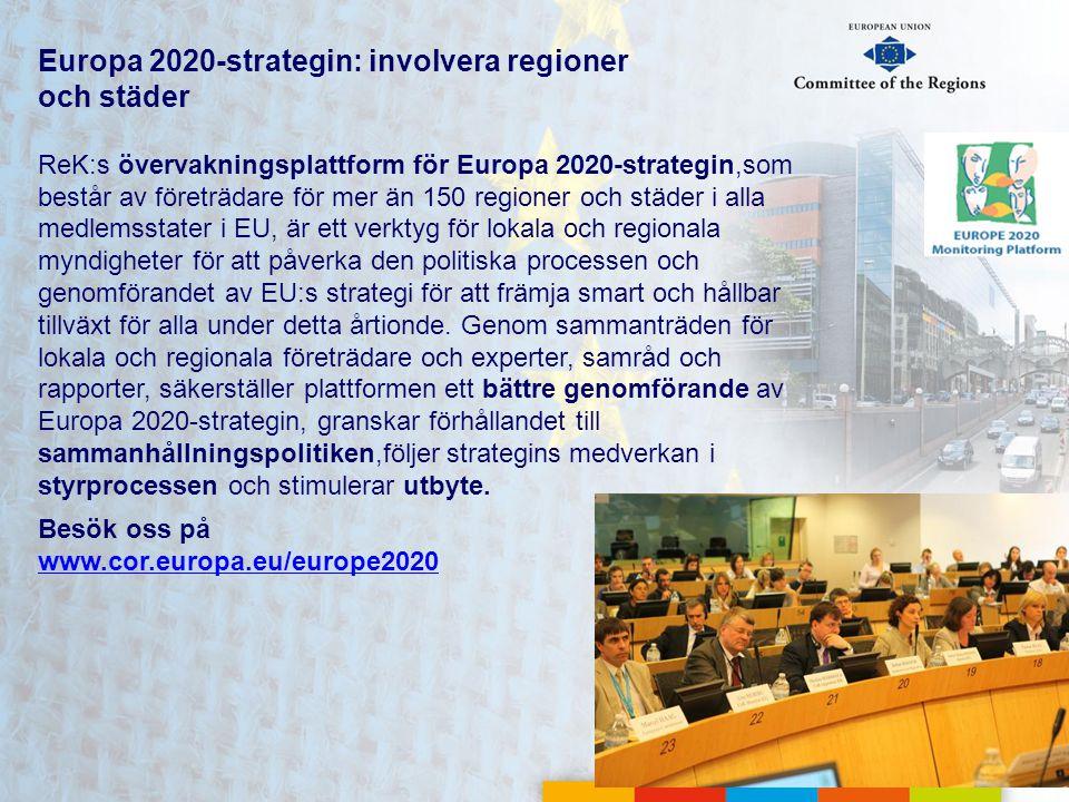 Europa 2020-strategin: involvera regioner och städer