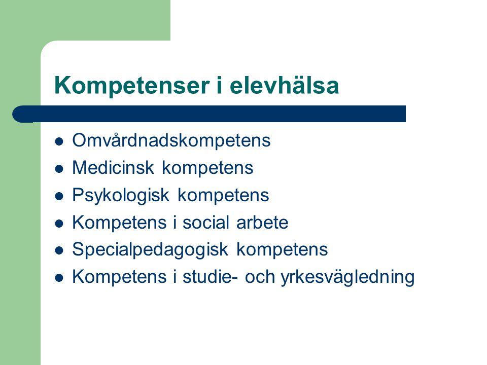 Kompetenser i elevhälsa