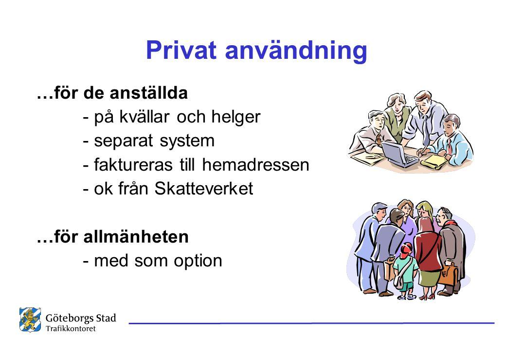 Privat användning …för de anställda - på kvällar och helger