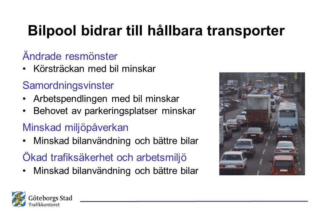 Bilpool bidrar till hållbara transporter