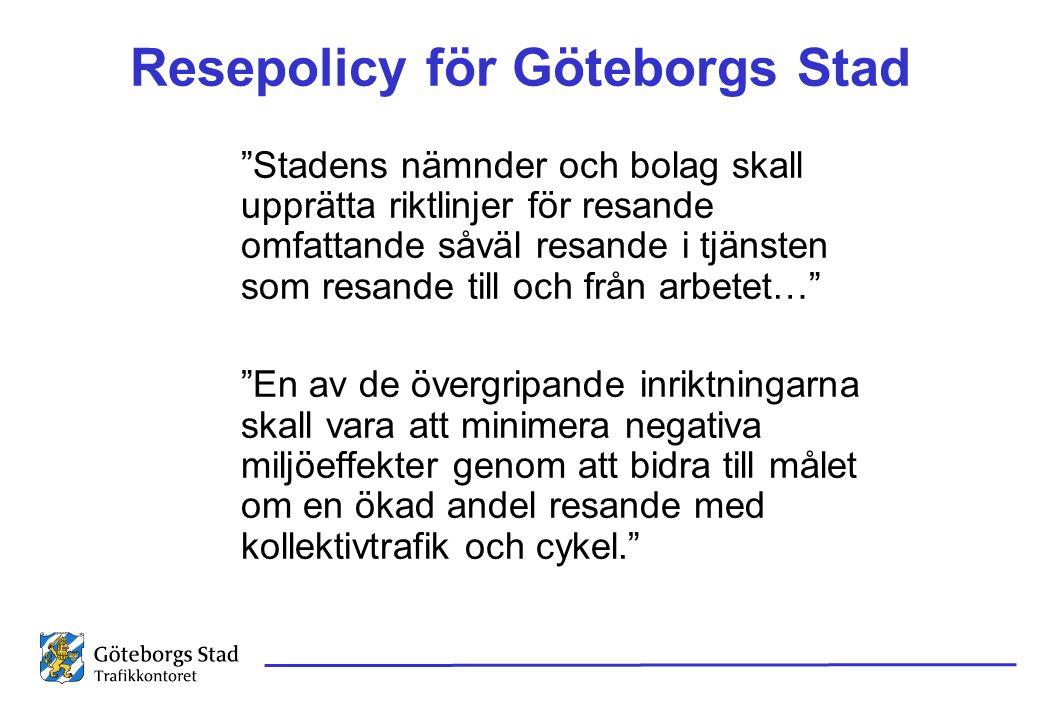 Resepolicy för Göteborgs Stad
