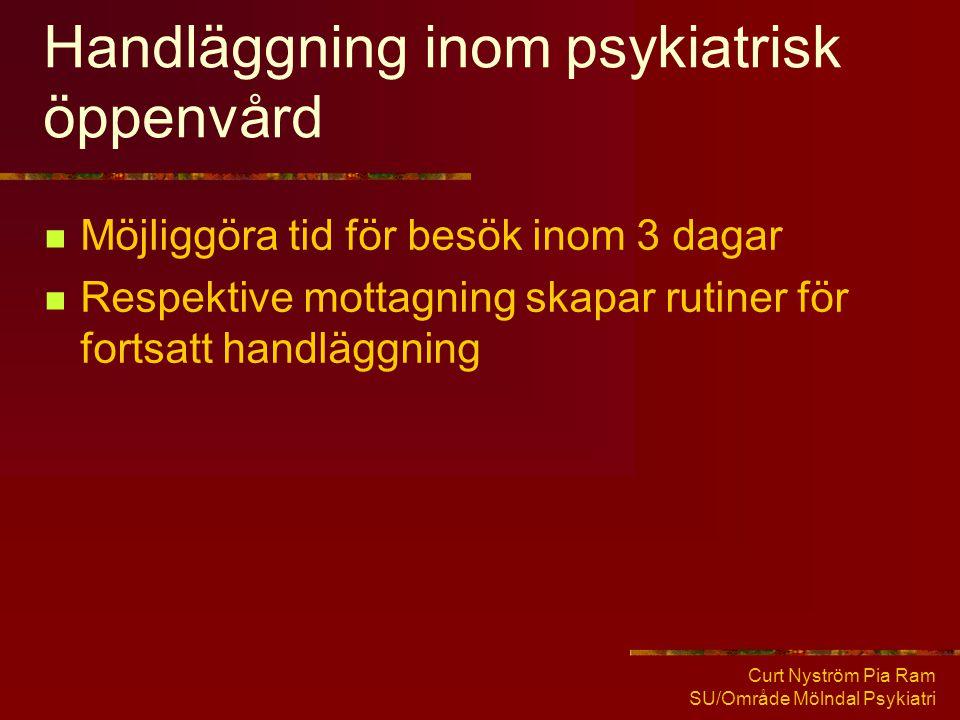 Handläggning inom psykiatrisk öppenvård