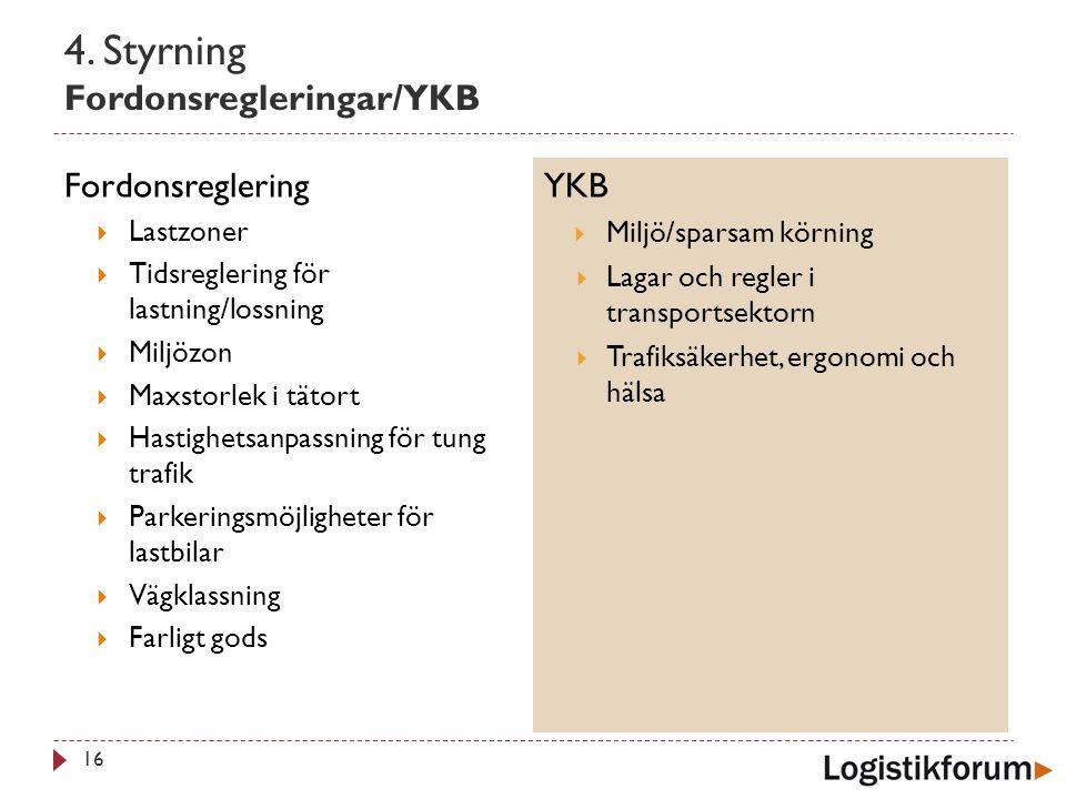 4. Styrning Fordonsregleringar/YKB