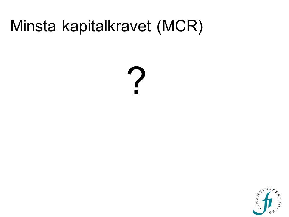 Minsta kapitalkravet (MCR)