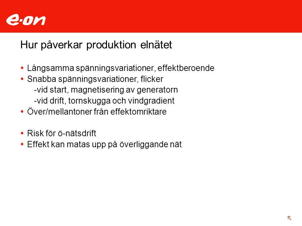 Hur påverkar produktion elnätet