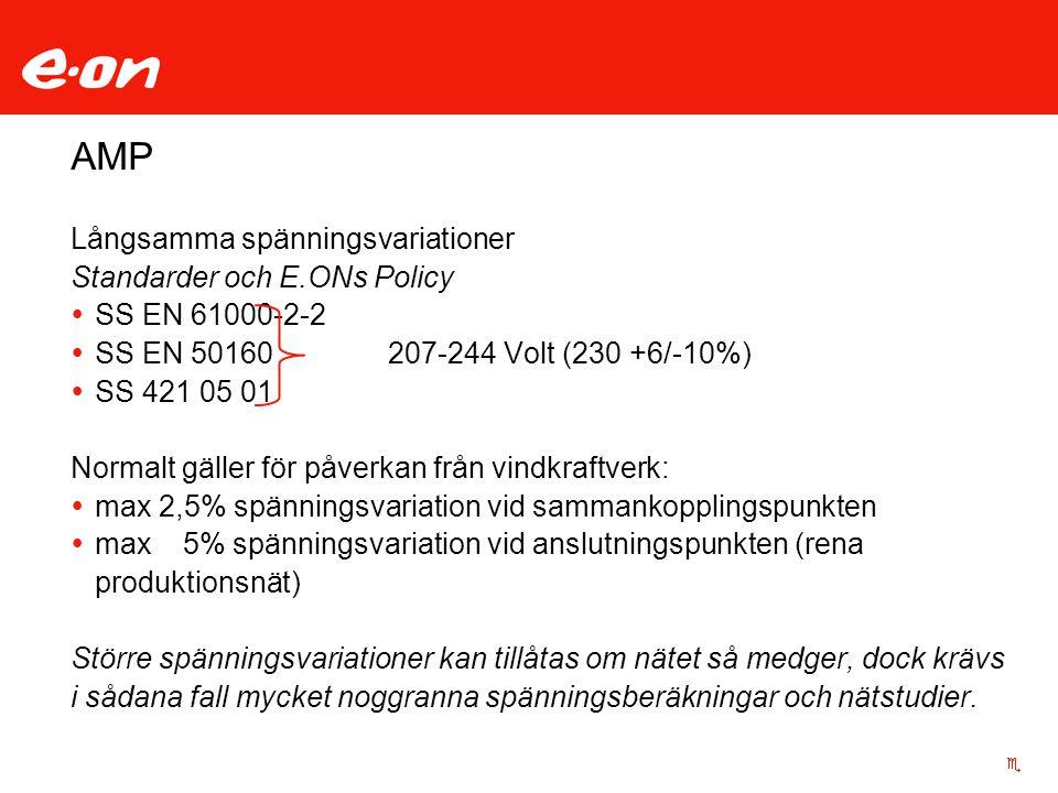 AMP Långsamma spänningsvariationer Standarder och E.ONs Policy