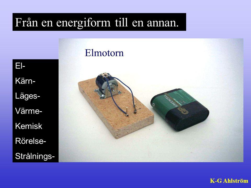 Från en energiform till en annan.