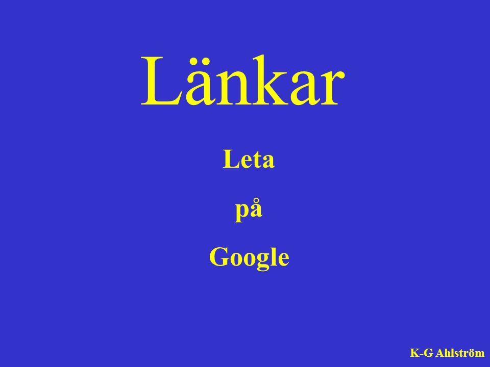 Länkar Leta på Google K-G Ahlström