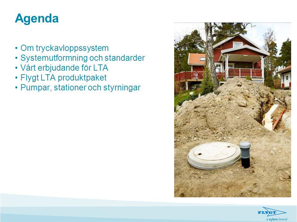 Agenda Om tryckavloppssystem Systemutformning och standarder
