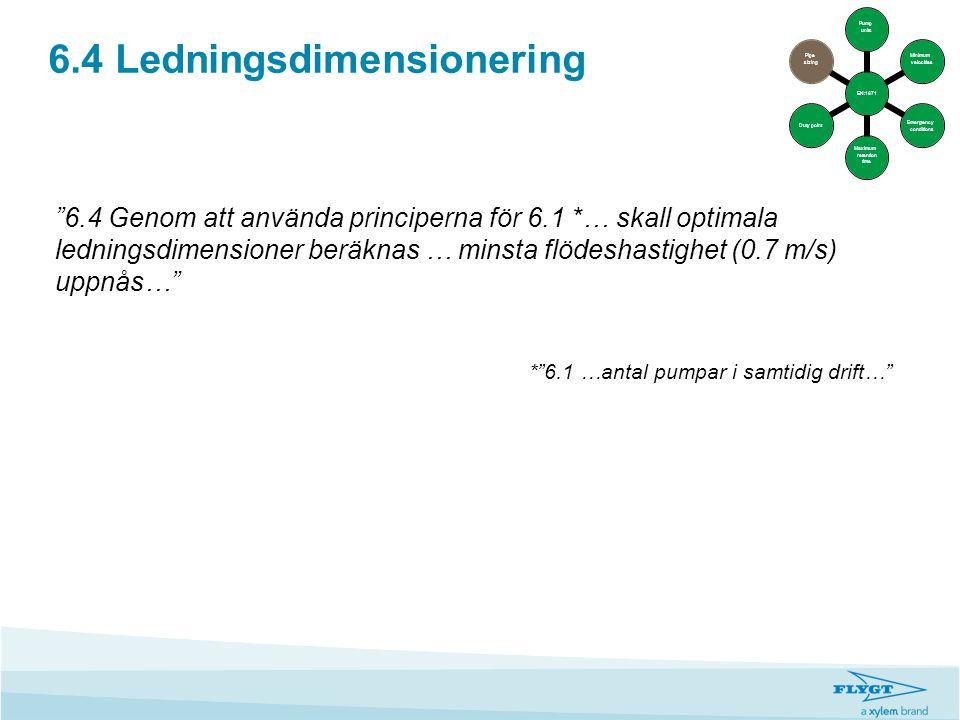 6.4 Ledningsdimensionering