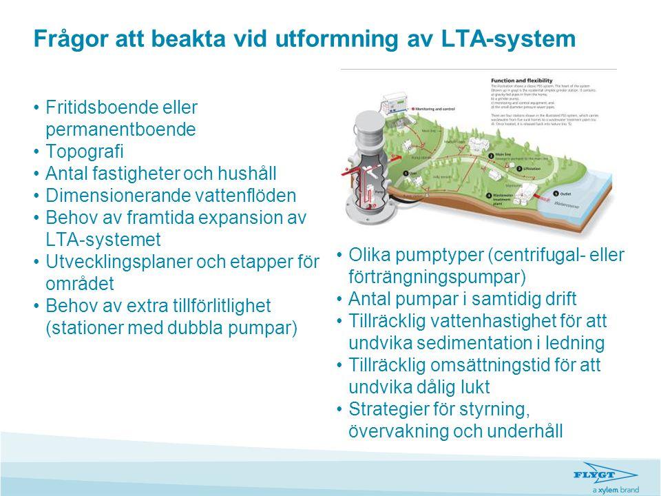 Frågor att beakta vid utformning av LTA-system