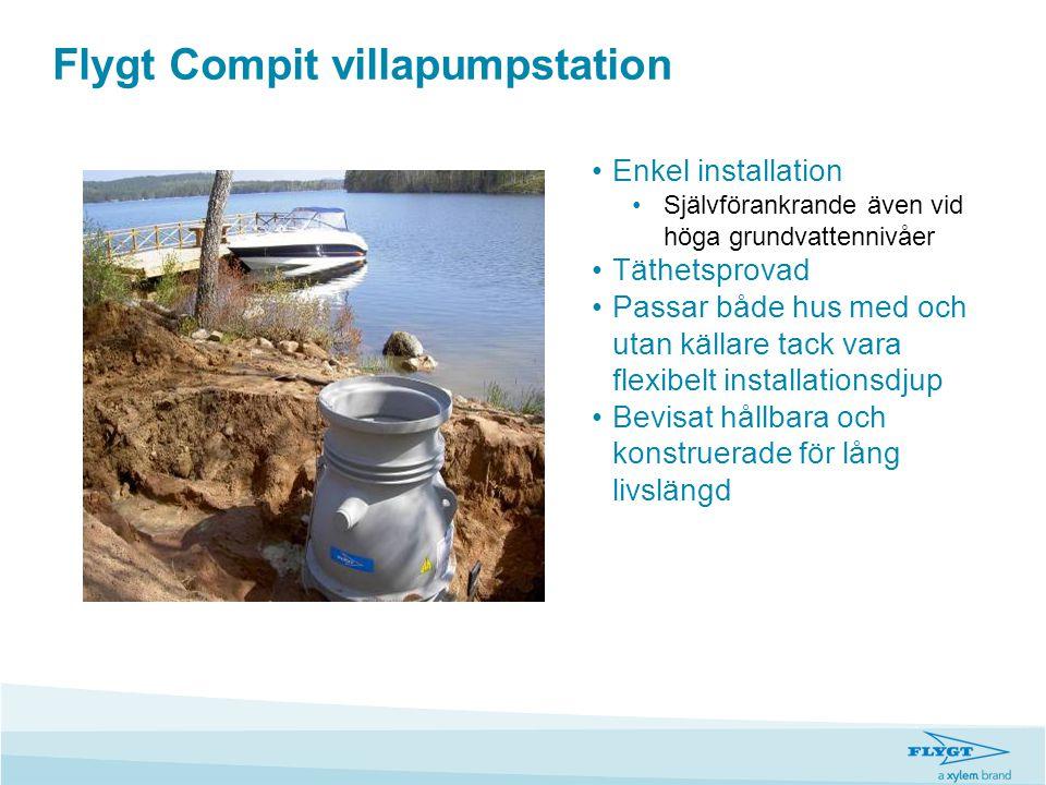 Flygt Compit villapumpstation