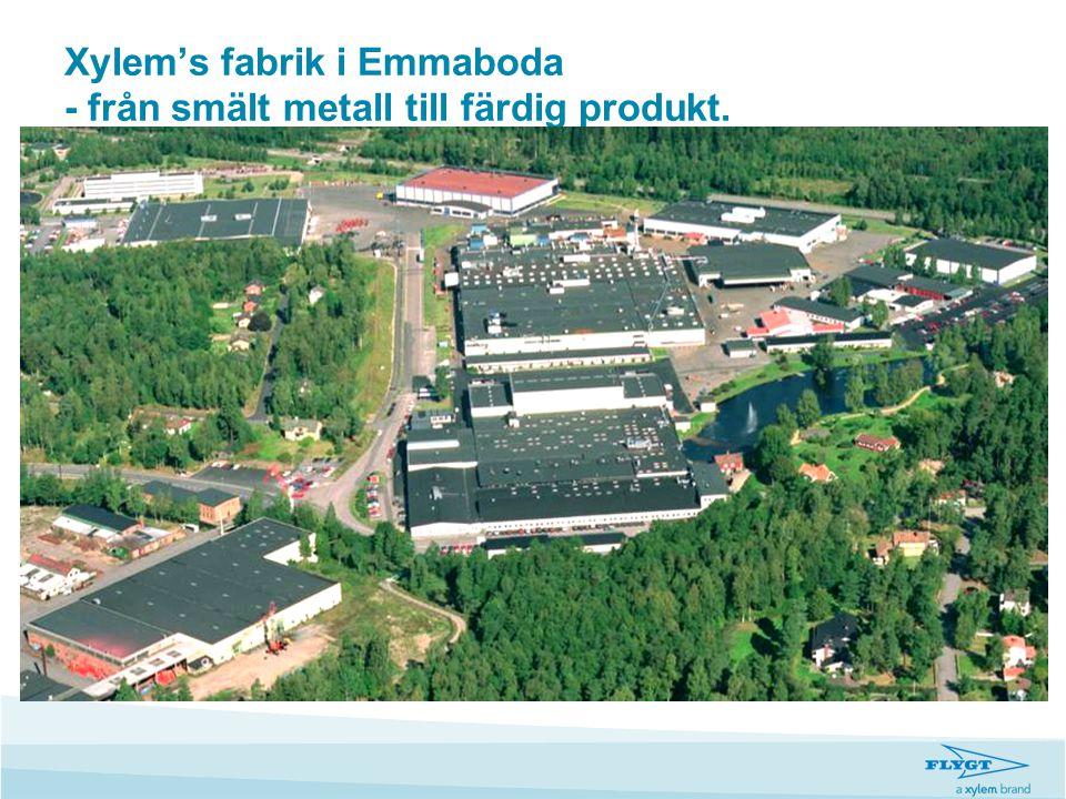 Xylem's fabrik i Emmaboda - från smält metall till färdig produkt.
