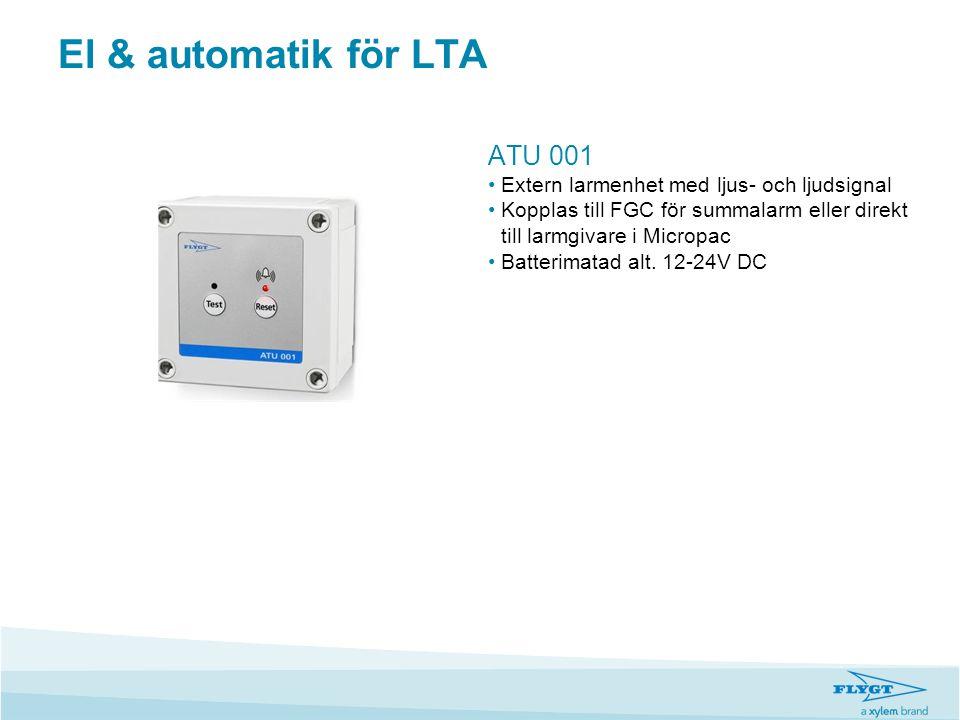 El & automatik för LTA ATU 001