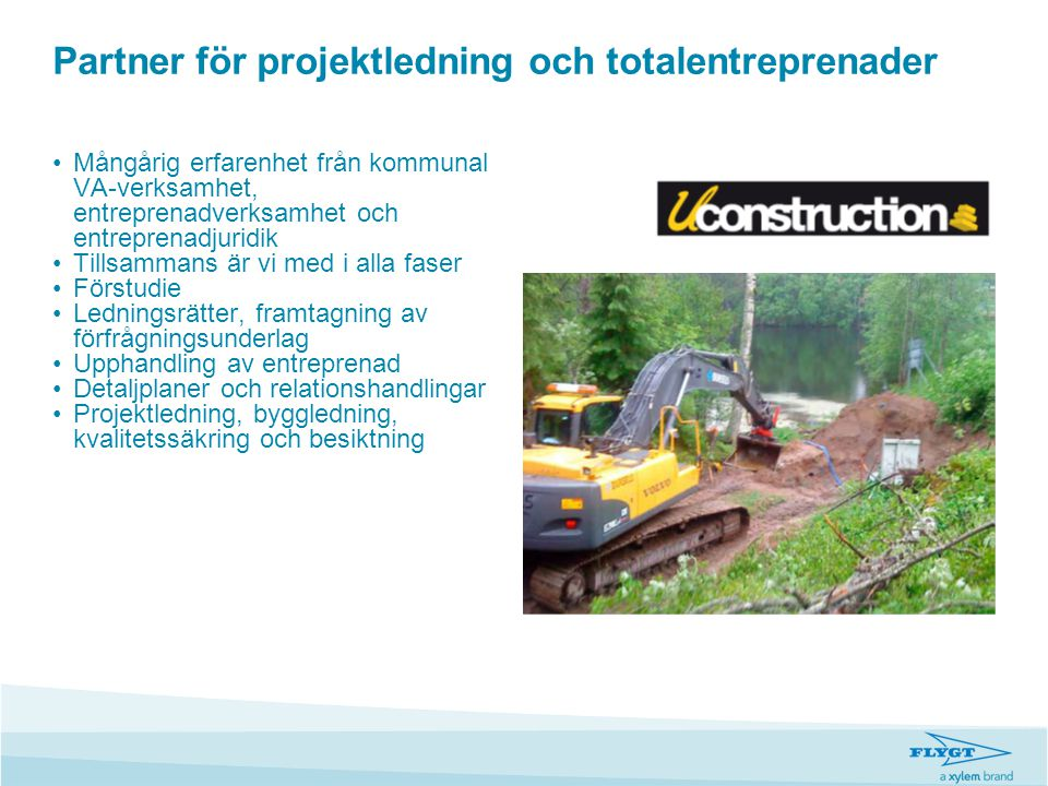 Partner för projektledning och totalentreprenader