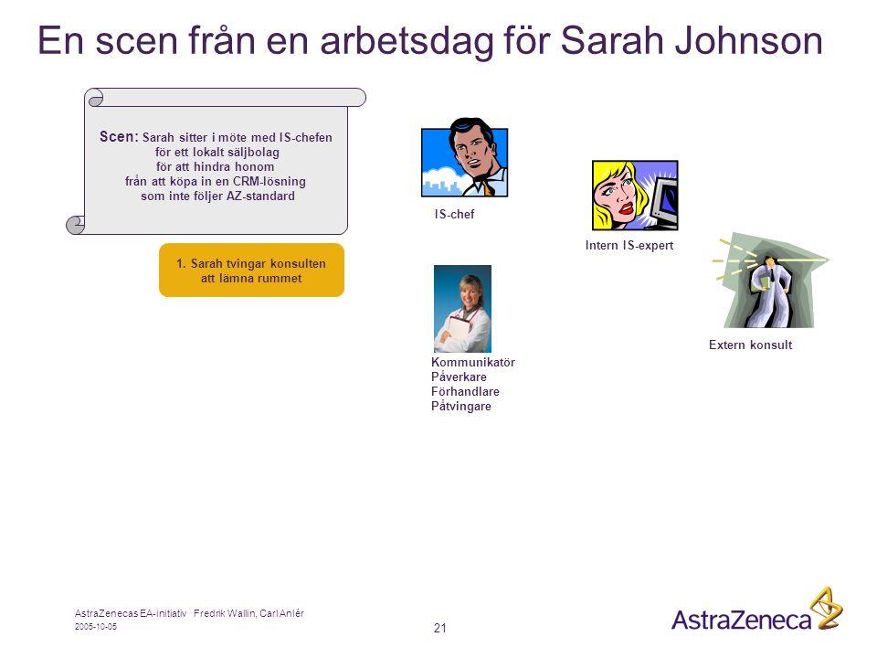 En scen från en arbetsdag för Sarah Johnson
