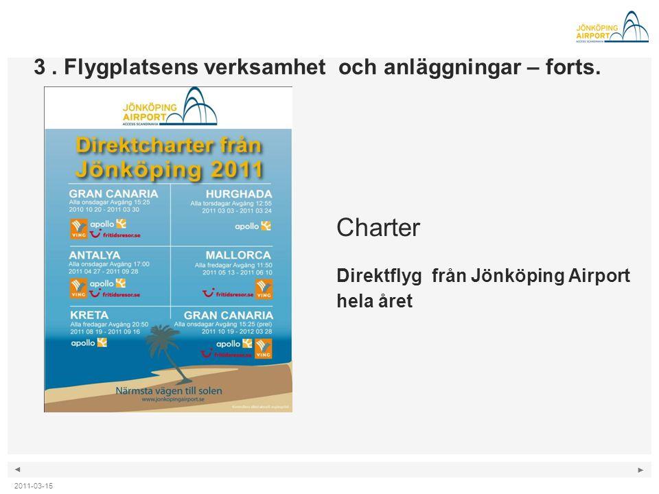 Charter Direktflyg från Jönköping Airport hela året