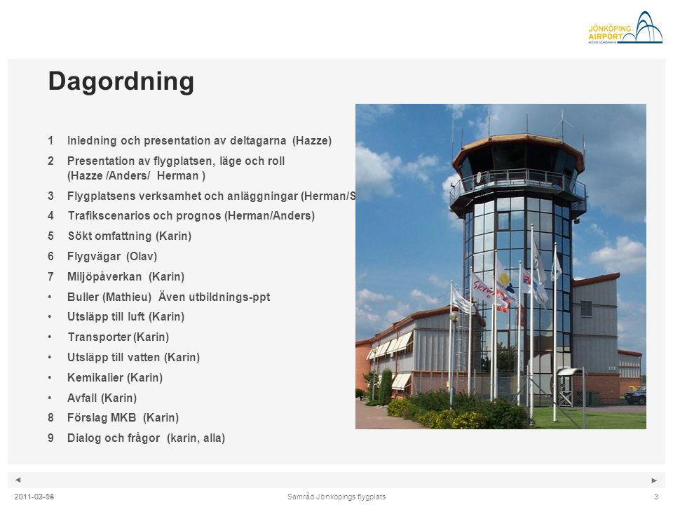 Samråd Jönköpings flygplats