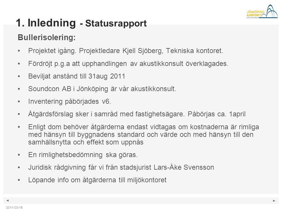 1. Inledning - Statusrapport