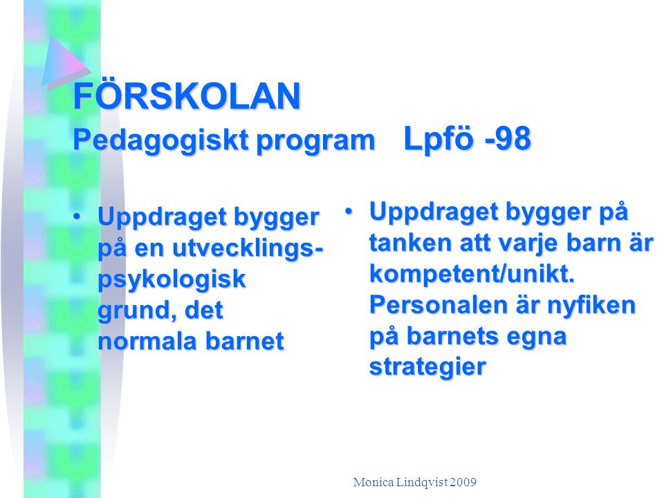 FÖRSKOLAN Pedagogiskt program Lpfö -98