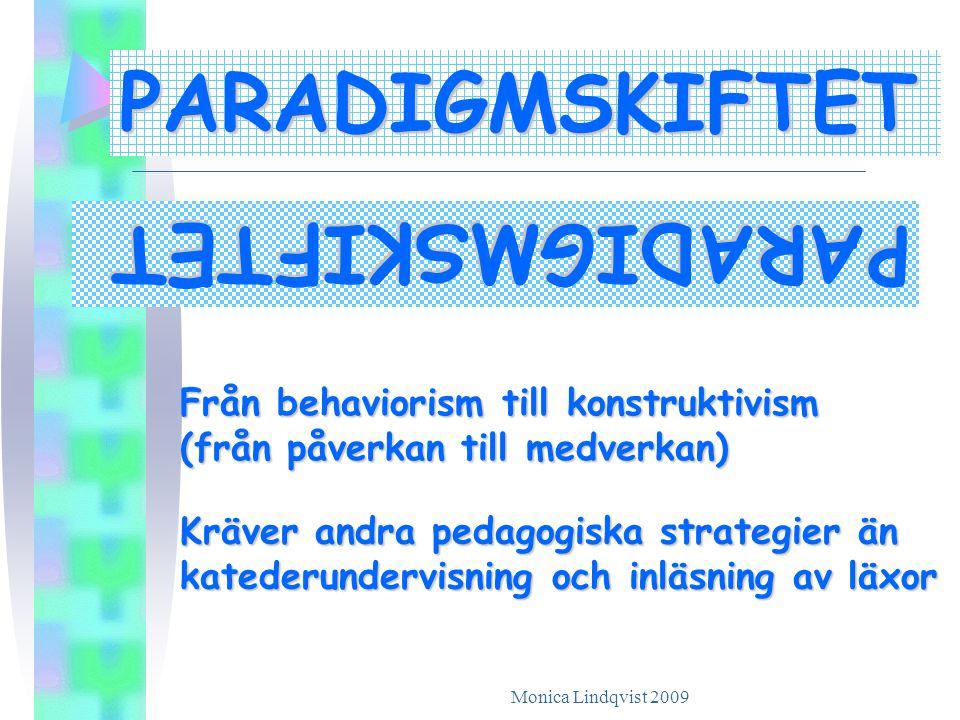 PARADIGMSKIFTET PARADIGMSKIFTET Från behaviorism till konstruktivism