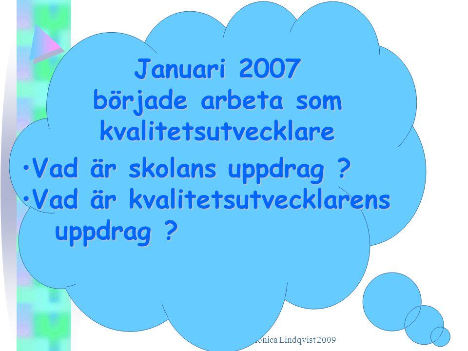 Januari 2007 började arbeta som kvalitetsutvecklare