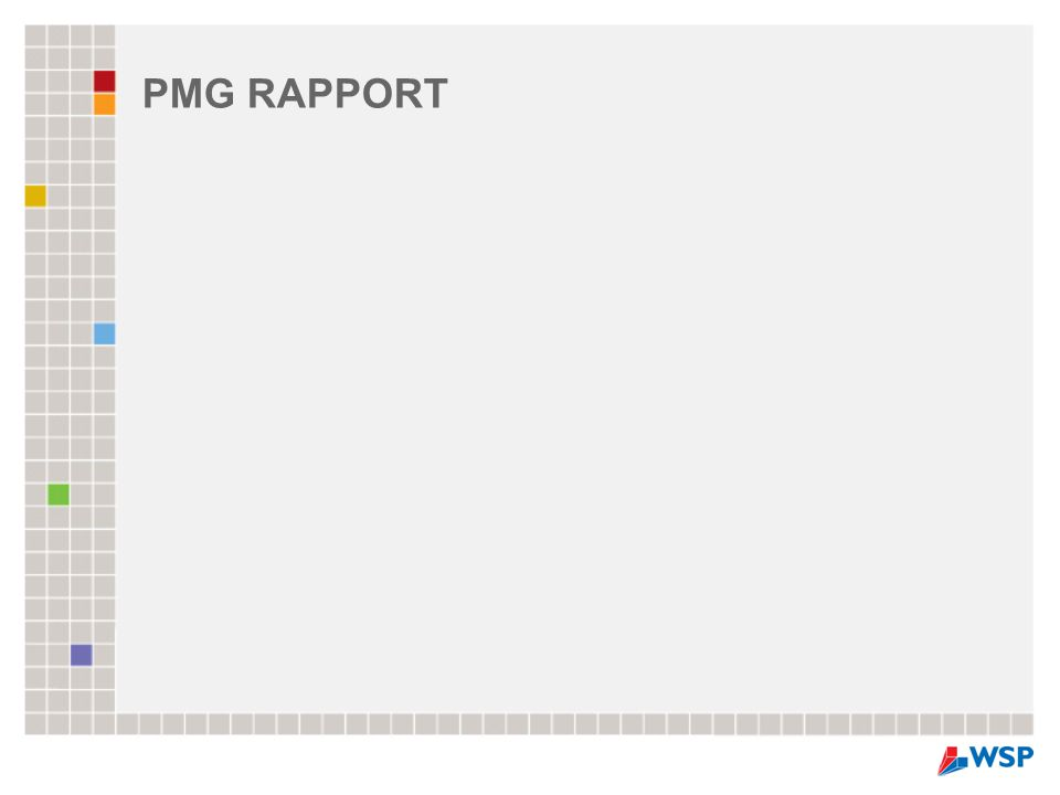 PMG RAPPORT
