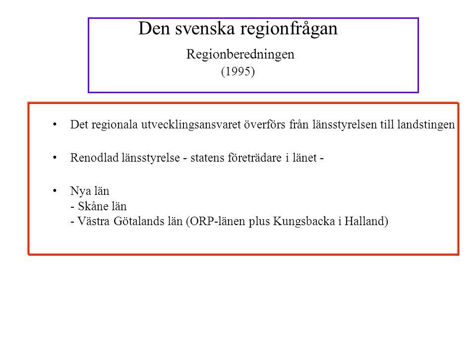 Den svenska regionfrågan Regionberedningen (1995)