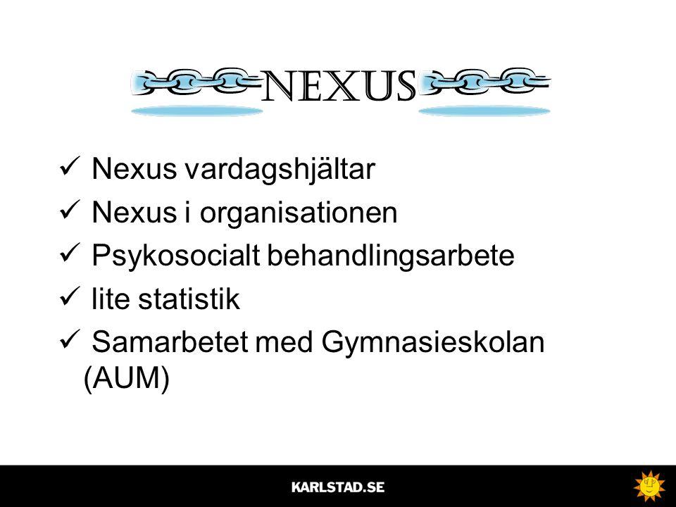 Nexus Nexus vardagshjältar Nexus i organisationen