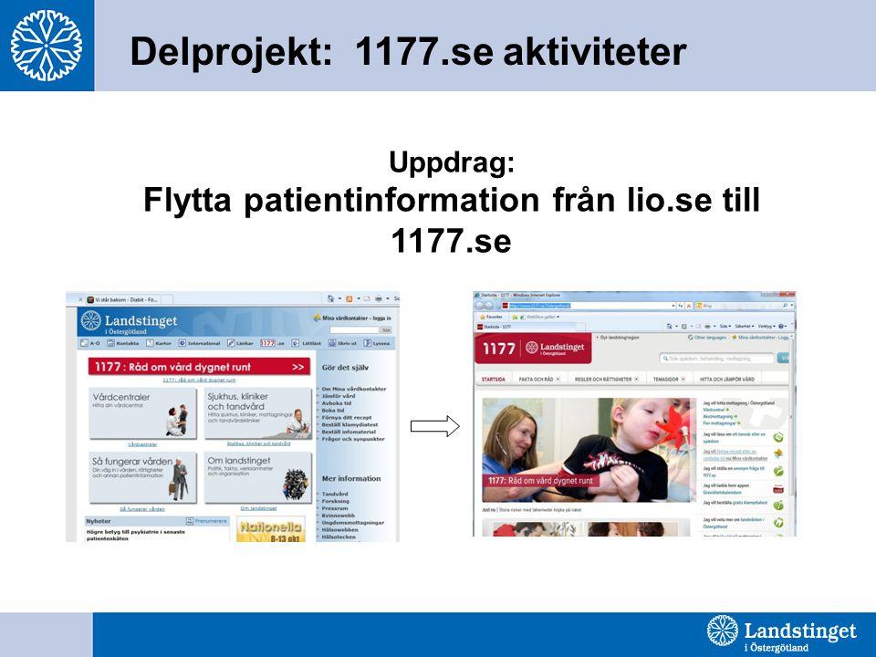 Uppdrag: Flytta patientinformation från lio.se till 1177.se