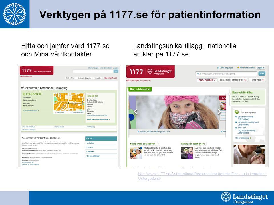 Verktygen på 1177.se för patientinformation