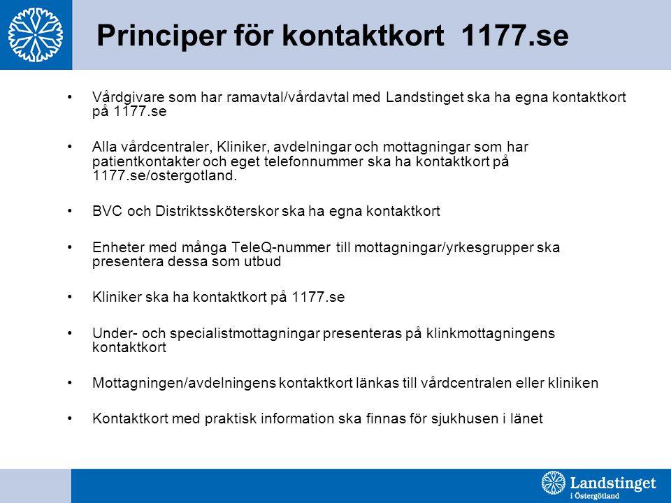 Principer för kontaktkort 1177.se