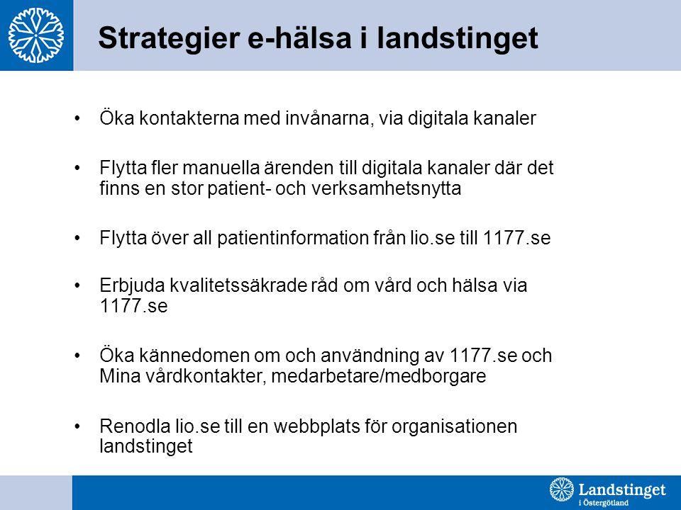 Strategier e-hälsa i landstinget