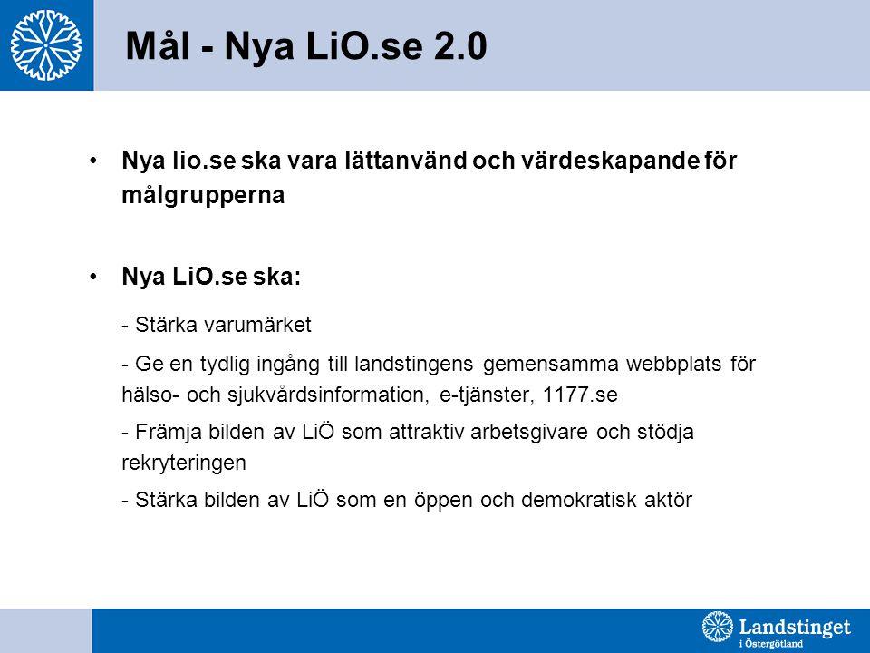 Mål - Nya LiO.se 2.0 - Stärka varumärket