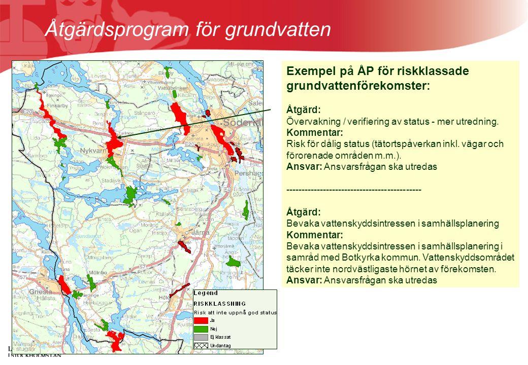 Åtgärdsprogram för grundvatten