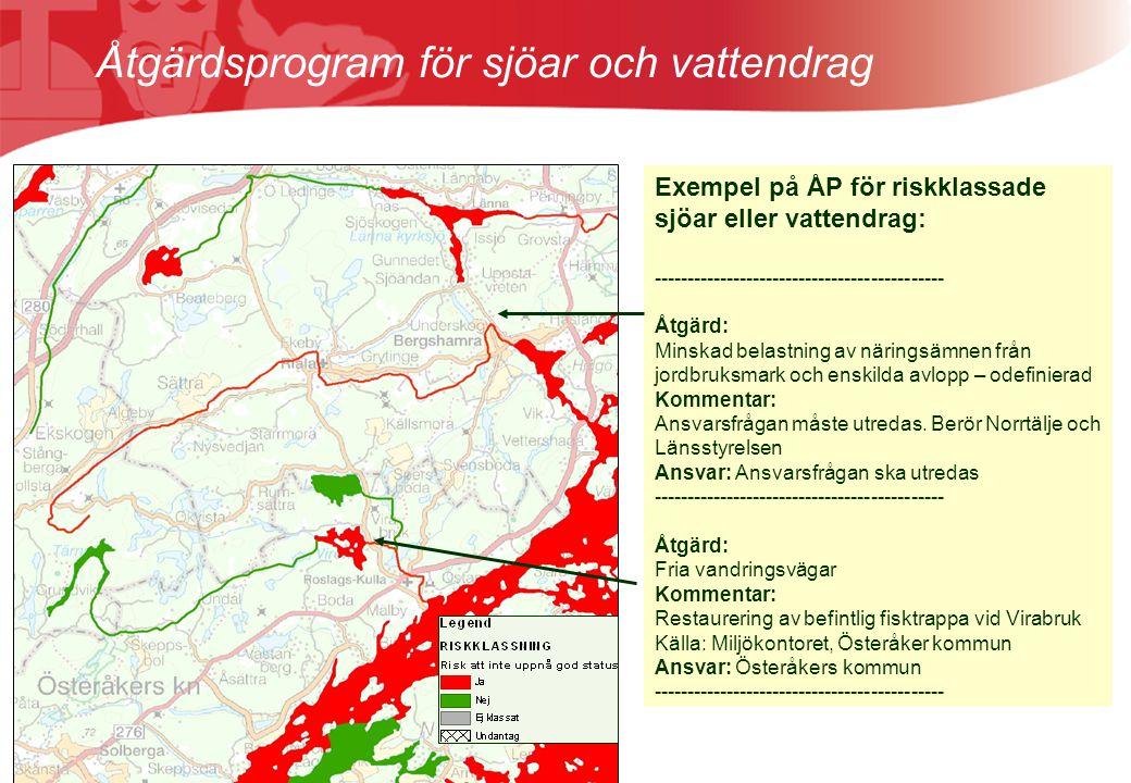 Åtgärdsprogram för sjöar och vattendrag