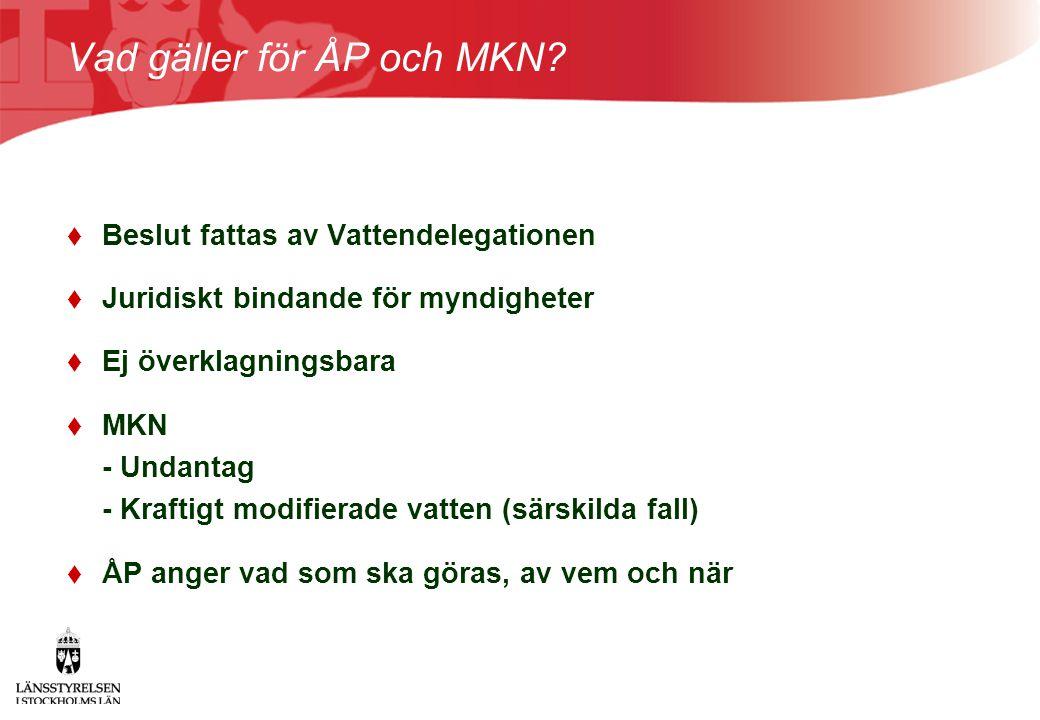 Vad gäller för ÅP och MKN