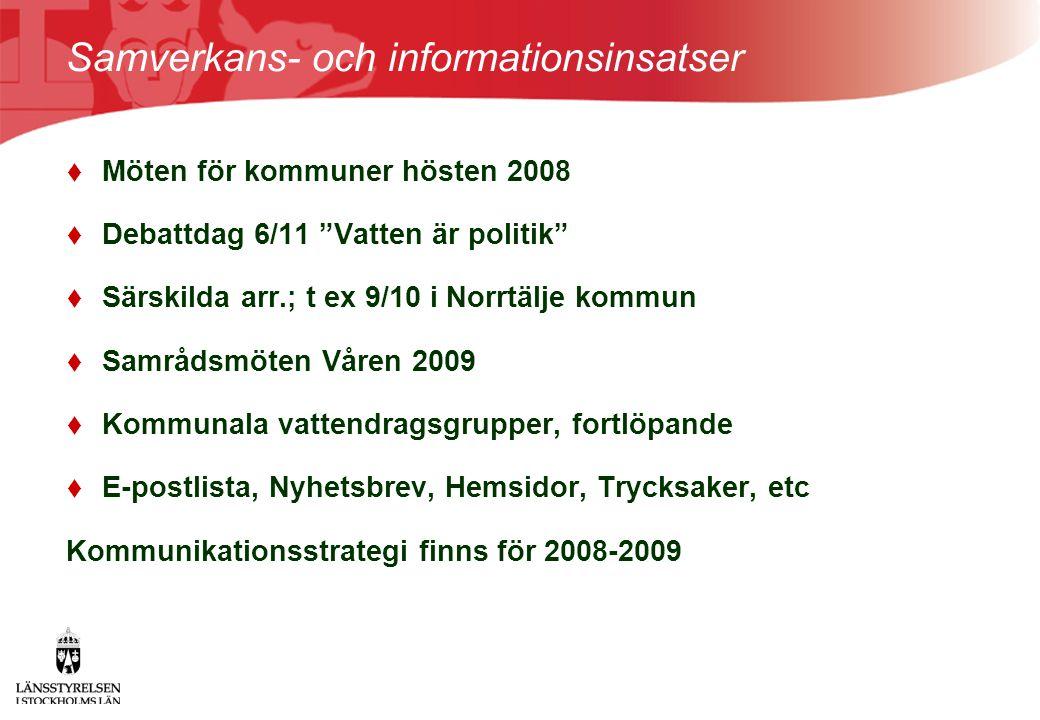 Samverkans- och informationsinsatser