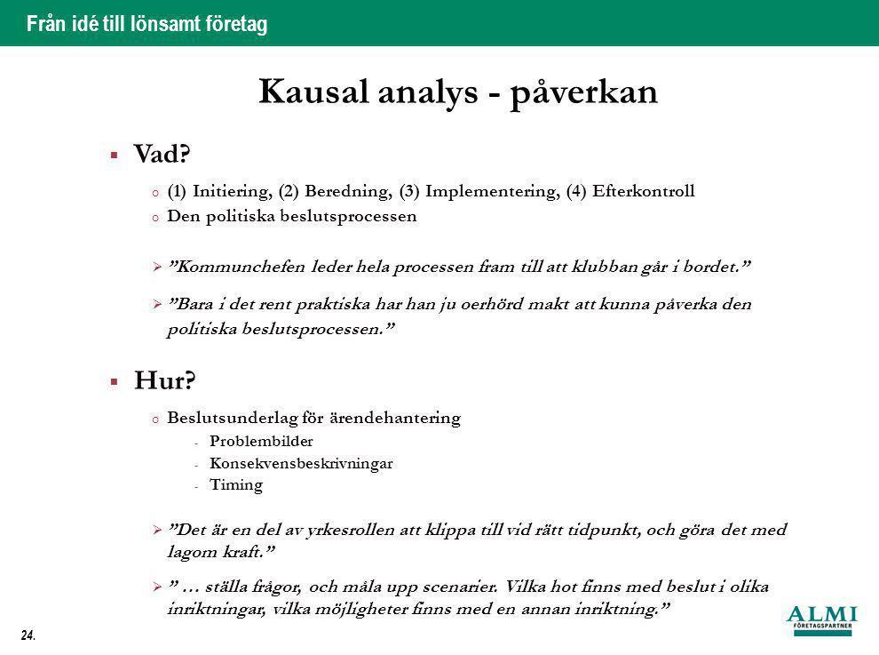 Kausal analys - påverkan