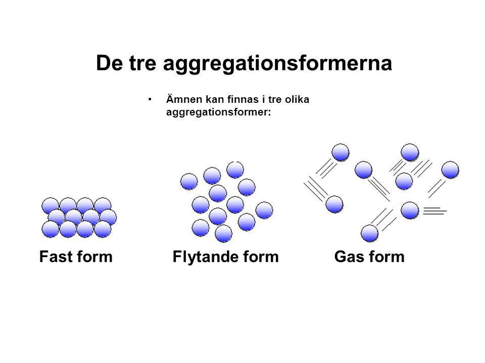 De tre aggregationsformerna