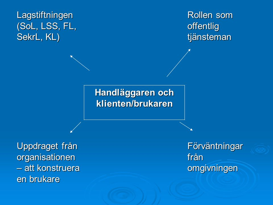 Handläggaren och klienten/brukaren