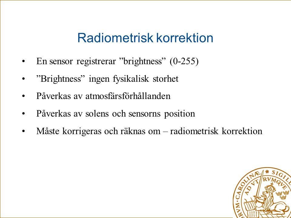 Radiometrisk korrektion
