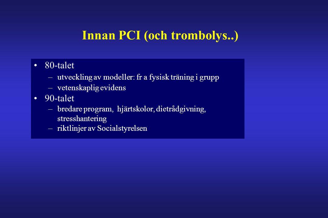 Innan PCI (och trombolys..)