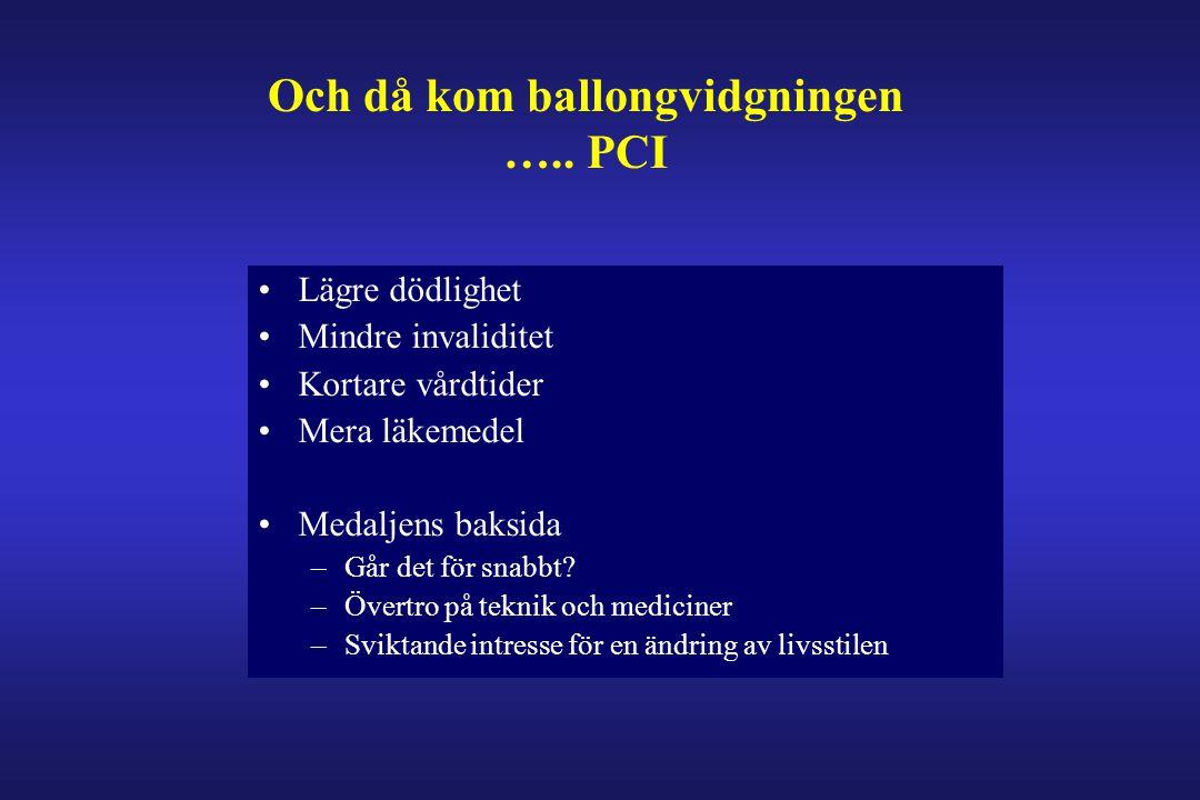 Och då kom ballongvidgningen ….. PCI