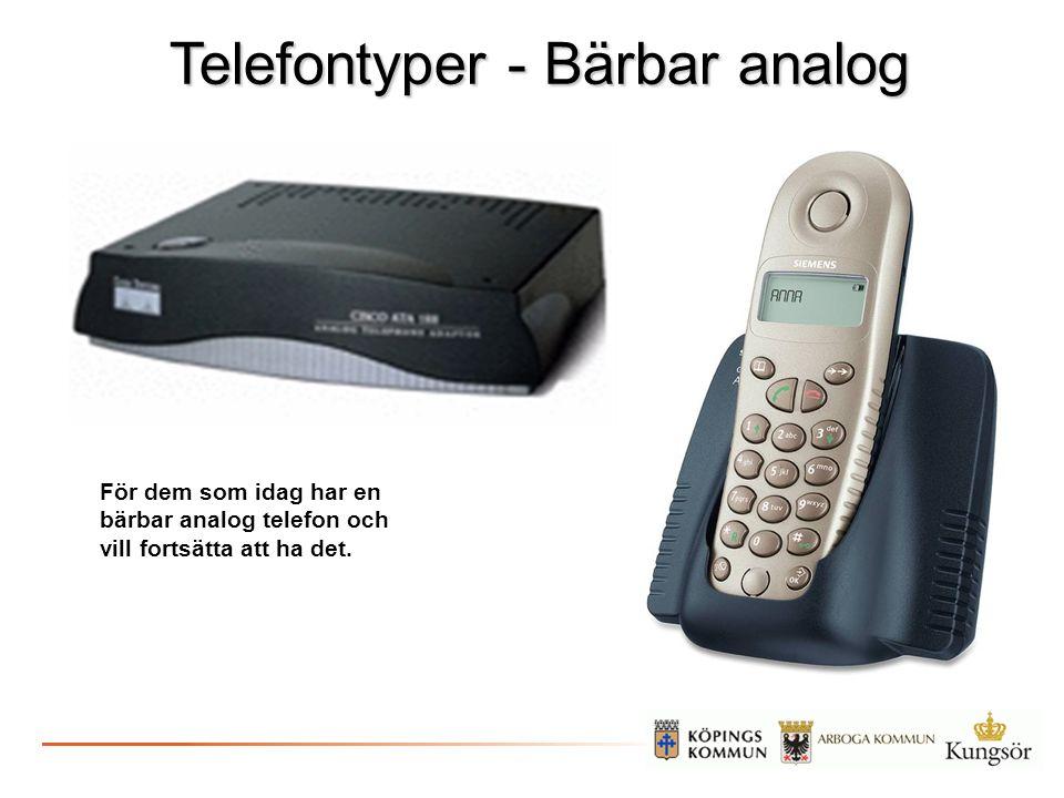 Telefontyper - Bärbar analog
