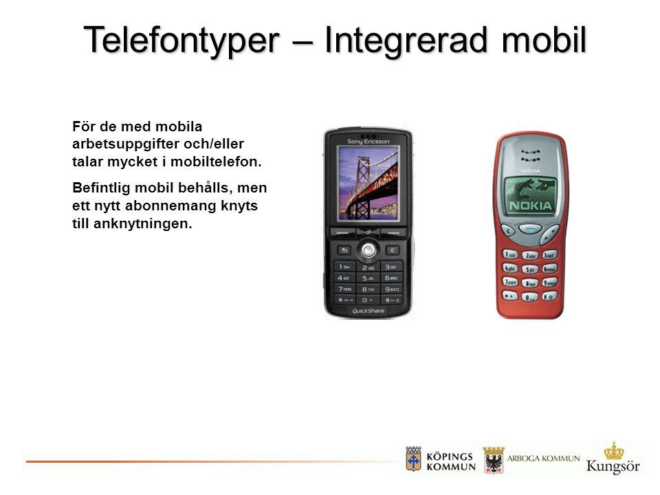 Telefontyper – Integrerad mobil
